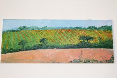 olio su tela dipinto a spatola vigna Monferrato