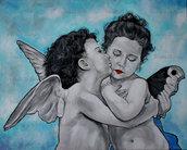 Capoletto moderno angeli cupidi amorini pop art regalo nozze