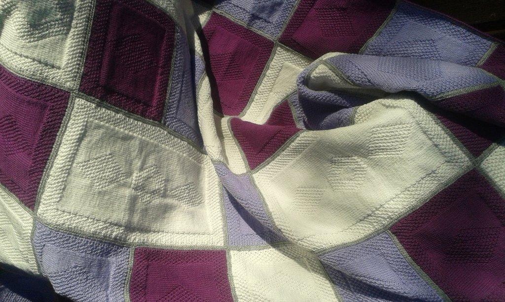 Coperta lana nuova fatta a ,mano
