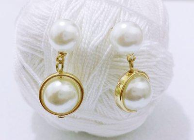 """Orecchini pendenti con perla """"Perla nel cerchio"""""""