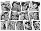 Ritratto su commissione da foto matita su cartoncino idea regalo