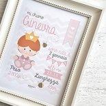Quadretto Nascita digitale principessa by fattoconilcuore : formato pdf PERSONALIZZABILE per il tuo ...