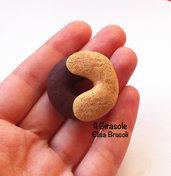 Calamita biscotto intreccio panna e cioccolato in pasta polimerica fimo