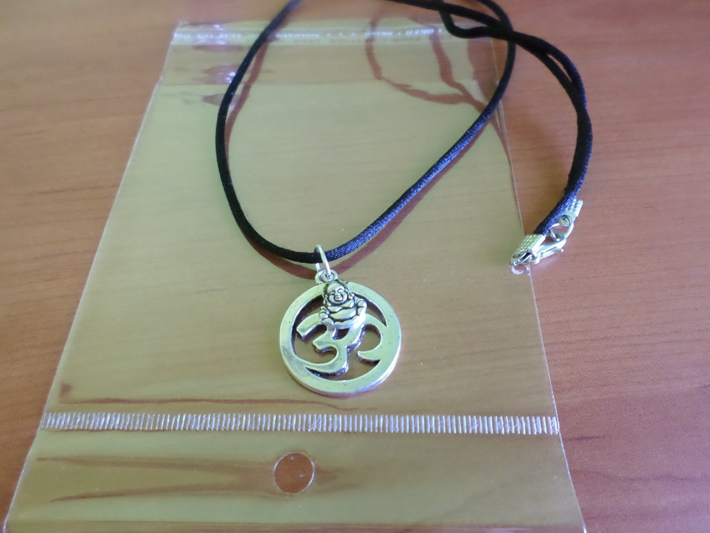 collana hom karma budda argento tibetano