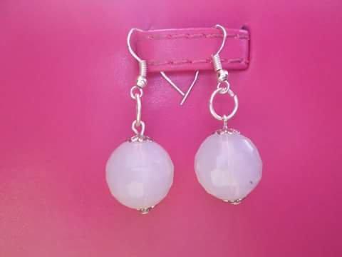 orecchini pietre dure di opale 12 mm