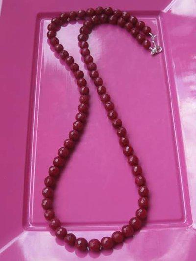 collana donna con pietre dure radice di rubino 6mm