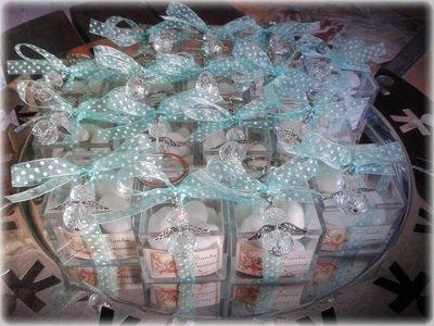 Bomboniera completa per battesimo,comunione,cresima con portachiavi angelo di cristallo