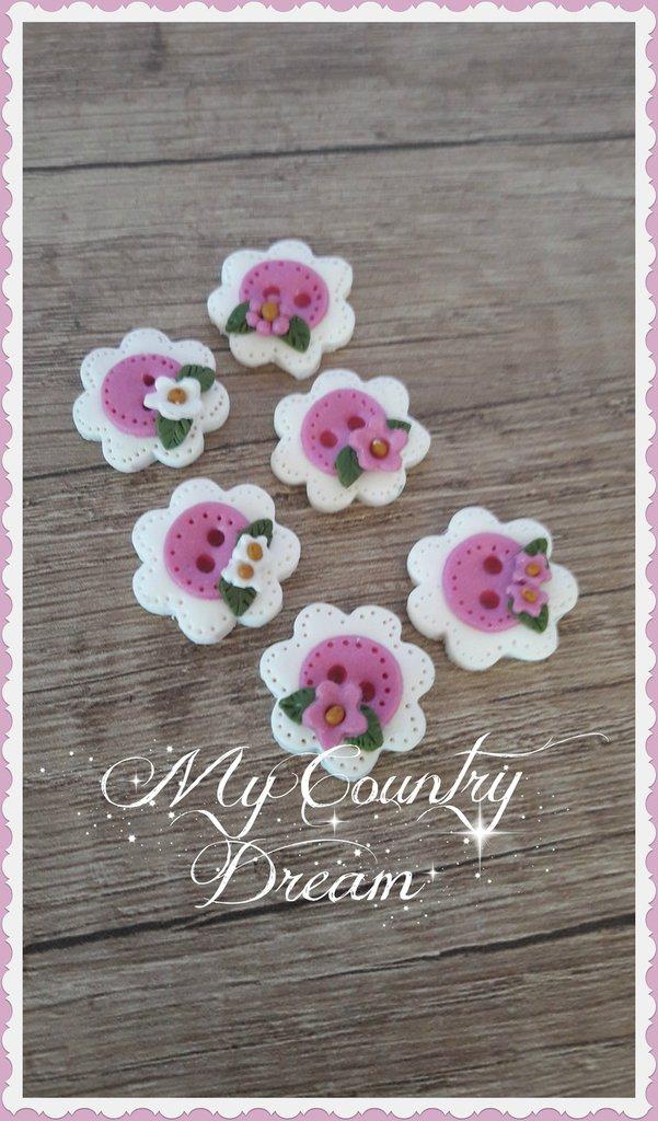 """Bottoni Artigianali """" Petite Roses"""""""