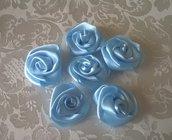 Roselline celesti, applicazioni per bomboniere battesimo o matrimonio