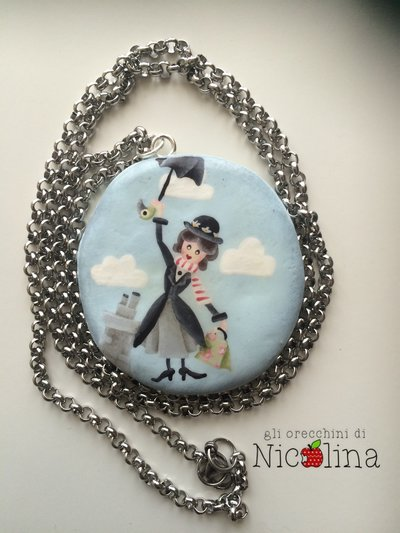 Collana lunga Mary Poppins - In every job that must be done there is an element of fun