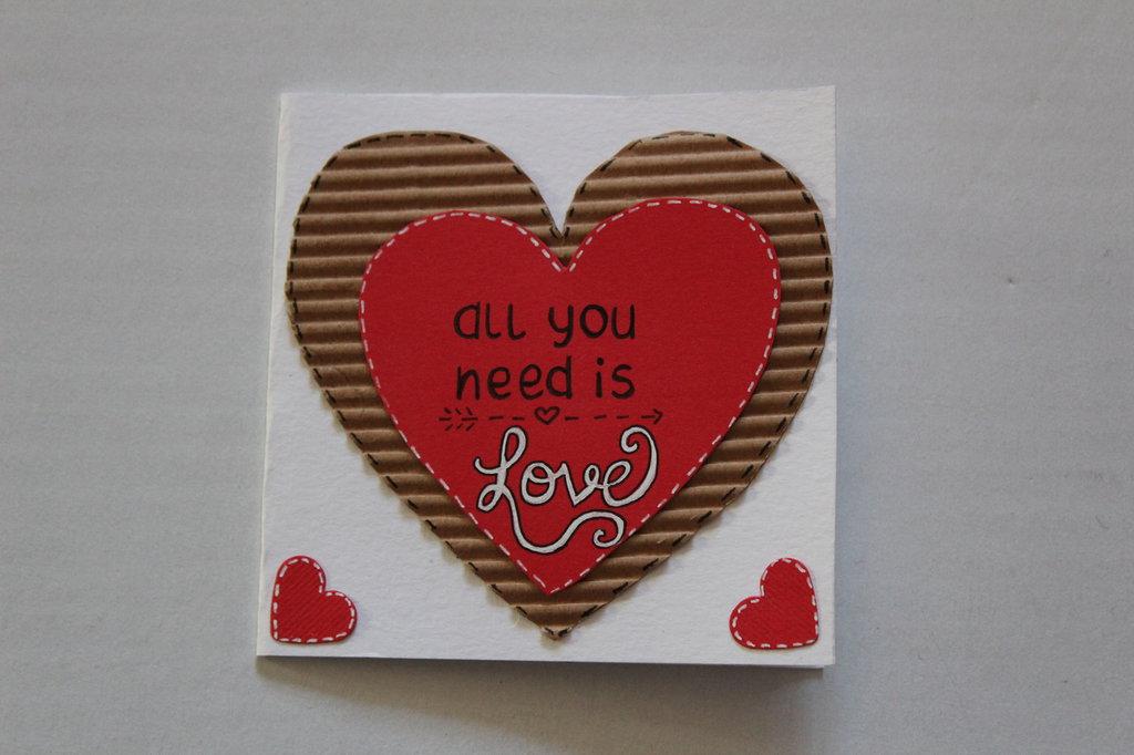 Biglietto san Valentino - All you need is love