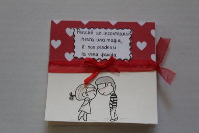 Biglietto san Valentino - Ragazzi innamorati