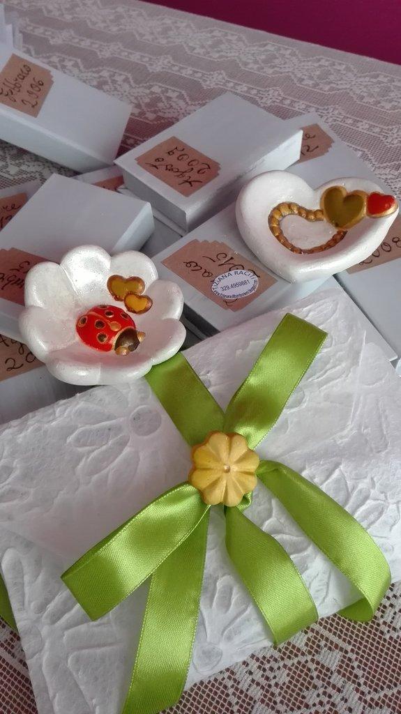 Conosciuto bomboniera coccinella cuore porta fortuna - Feste - Bomboniere  OK56