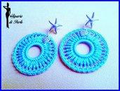 Orecchini turchesi e argento con stella marina - ANTEPRIMA ESTATE