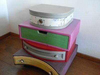 mobili creati con cassetti ...