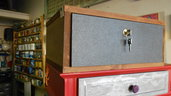 cassetto formica metallizzata e legno
