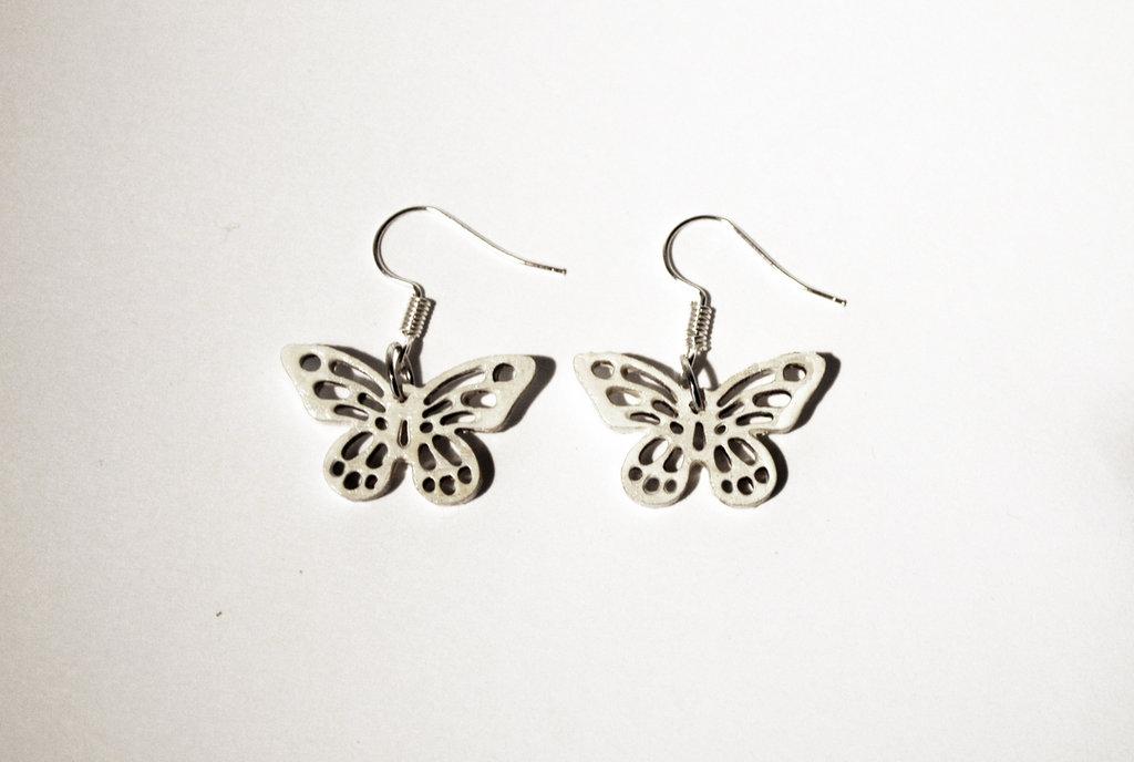 Orecchini farfalle bianche