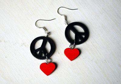 Orecchini Peace&Love - Pendenti
