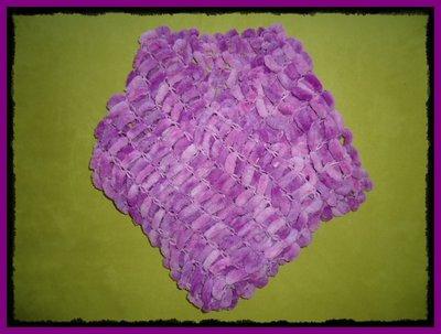Sciarpa Pon-Pon Rosa Sfumato