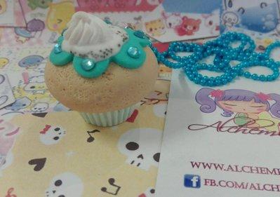 Collana Kawaii FIMO cupcake pasticcino dolcetto Alchemian fatta a mano lolita