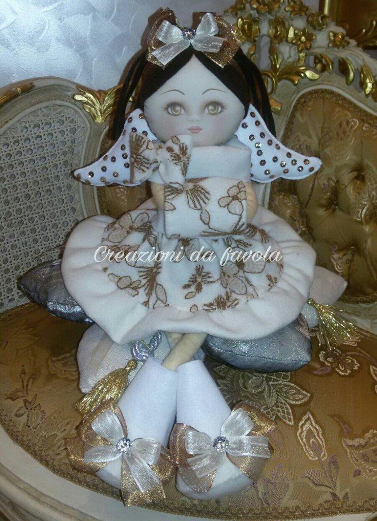 Bambola angelo in feltro
