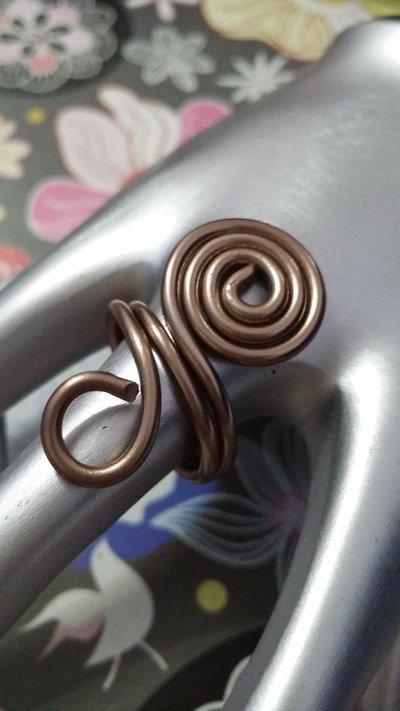 Anello wire bronzo