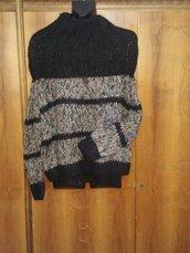 Morbido maglione con collo bi-uso
