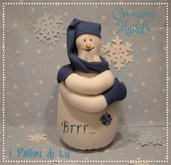 Fermaporta decorazione casa - Pupazzo di neve freddoloso