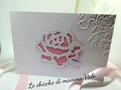 partecipazione con rosa fatte a mano