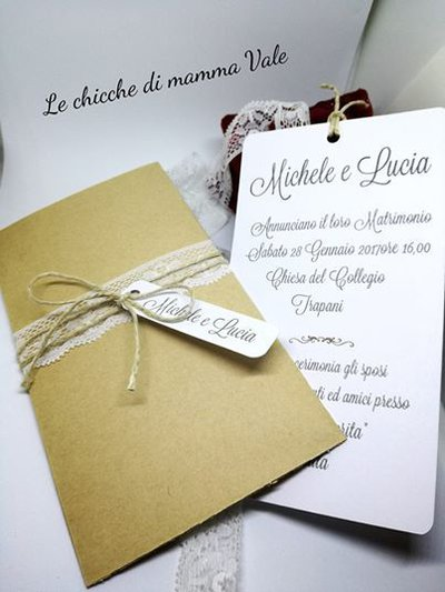 Inviti Matrimonio Country Chic : Partecipazioni inviti country shabby chic feste