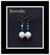 Orecchini perle Swarovski e Pinch