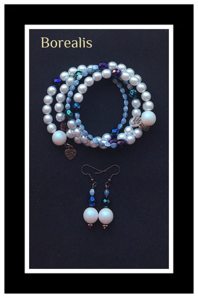 Parure Armonica Perle di Boemia e Pinch