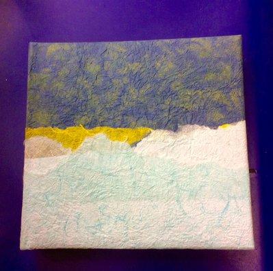 Album foto ricoperto a mano in carta di riso
