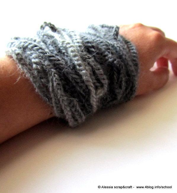 Braccialetto gioiello a crochet - SPESE DI SPEDIZIONE GRATIS