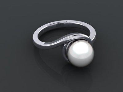 Anello perla argento 925