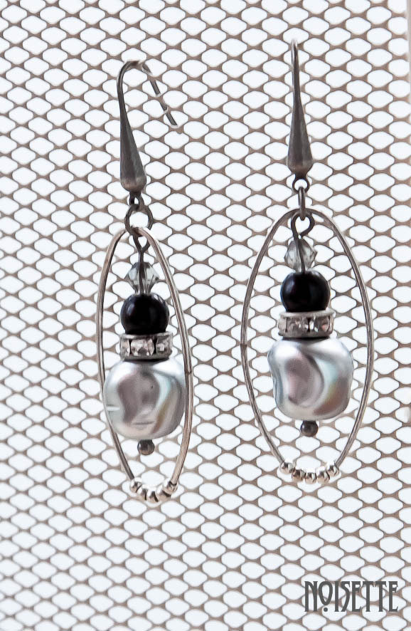 Pendientes glamour ovalo