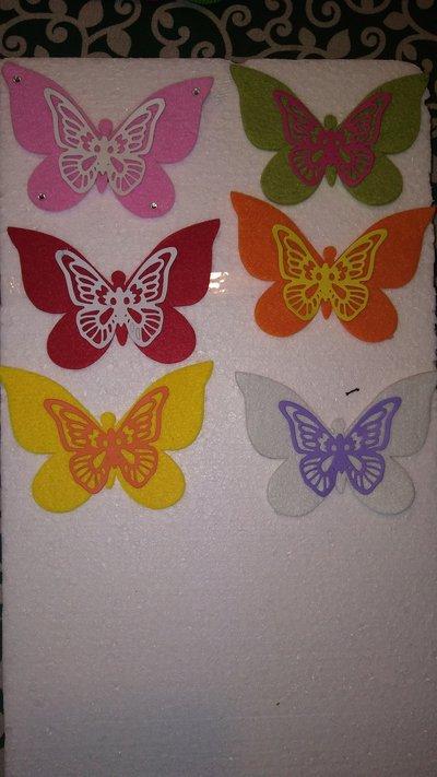Farfalle calamita feltro