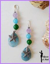 Orecchini in agata e vetro con stella marina - Anteprima ESTATE
