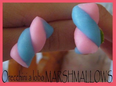 orecchini a lobo marshmallows