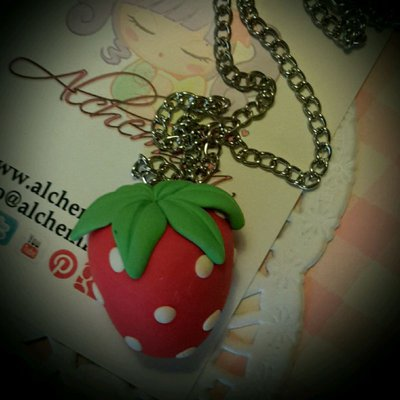 Collana Kawaii japan food fragola fumetto cosplay lolita cute Sweet manga
