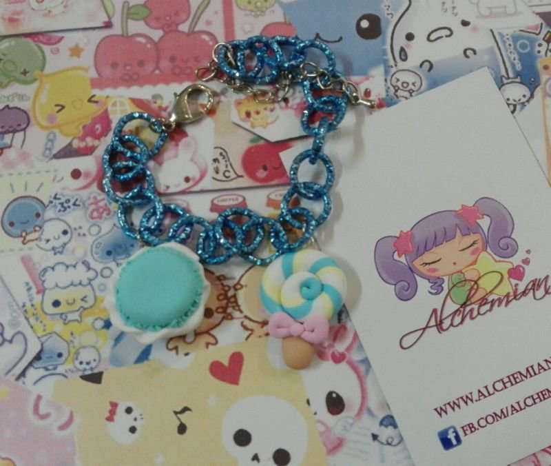 Bracciale macaron e lecca-lecca, lollypop, kawaii style, sweet, lolita dolcetti