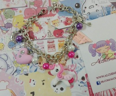 Bracciale pony cuoricino strass, love moon, kawaii style,sweet