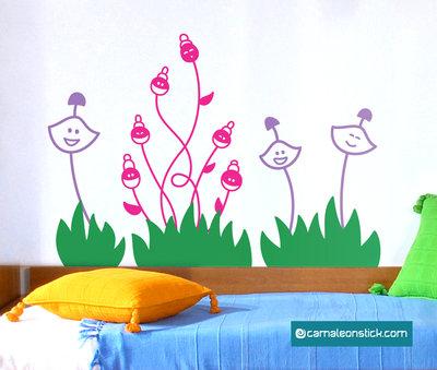 Fiori - adesivo murale per bambini - sticker da parete cameretta fiori