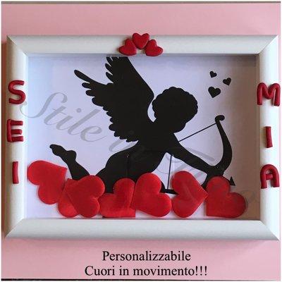 Quadretto o cornice per San Valentino personalizzabile, fatta a mano!