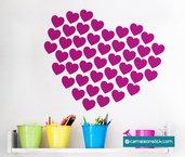 Cuore - adesivo murale - sticker da parete