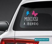 adesivo mocciosi a bordo per auto - adesivo auto per bambini - sticker vetro macchina