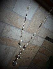 Collana lunga perle e brillanti