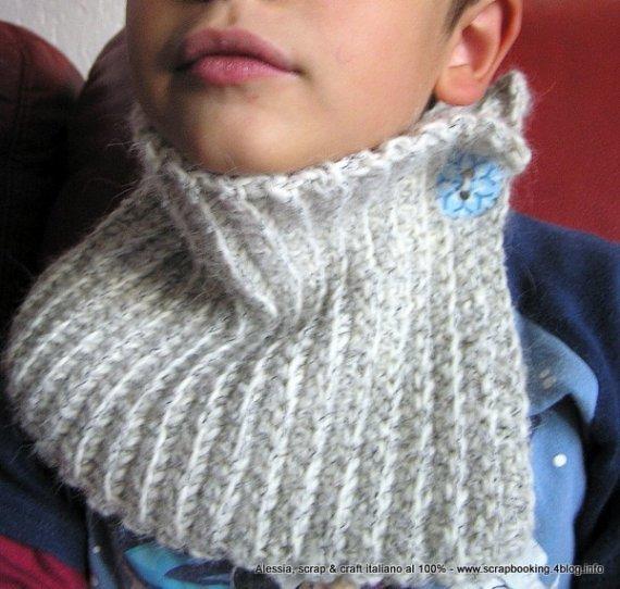 Snowflake, SCALDACOLLO PER BAMBINI IN ALPACA - crochet uncinetto -