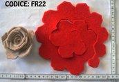 Fustellati Feltro Fiori 3D FR22