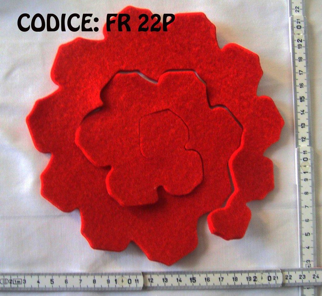 Fustellati Pannolenci Fiori 3D FR22P